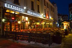 Café, restaurant au centre de la ville Photographie stock libre de droits