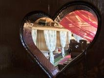 Café retro del arte del estilo en Solnechnogorsk, Crimea fotos de archivo libres de regalías