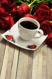 Café romántico imagen de archivo libre de regalías