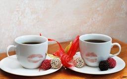Café romântico Imagem de Stock Royalty Free