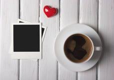 Café romantique de matin Photographie stock