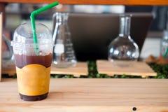 Café sólo del hielo Imagenes de archivo