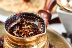 Café sólo turco tradicional foto de archivo