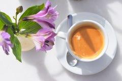 Café sabroso, caliente y delicioso Foto de archivo libre de regalías