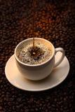 Café se renversant Photo stock