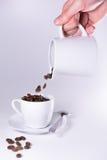 Café se renversant Photographie stock libre de droits