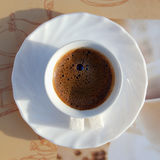 Café servido Foto de Stock Royalty Free