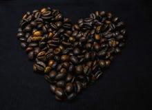 Café sido corazón Fotos de archivo libres de regalías