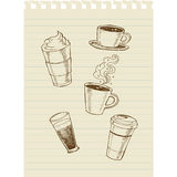 Café sketch2 Image stock