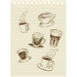 Café sketch1 Images stock
