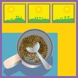 Café soluble dans Sunny Room Photographie stock