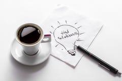 Café - soluciones del hallazgo imagen de archivo libre de regalías