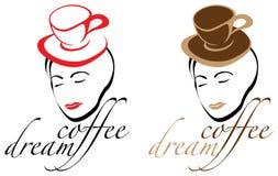 Café-sonho ilustração royalty free