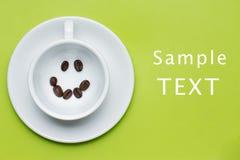 Café souriant de visage Image libre de droits