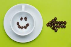 Café souriant de visage ici Images libres de droits