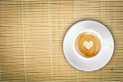 Café supérieur en bambou Photographie stock