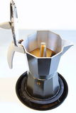 Café superior del café express de la estufa Imágenes de archivo libres de regalías