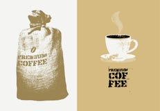 Café superior Fondo retro del grunge del vector Fotografía de archivo libre de regalías