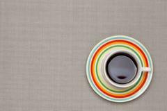 Café sur la nappe Photos libres de droits