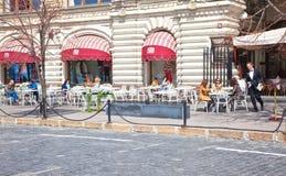Café sur la place rouge Image libre de droits