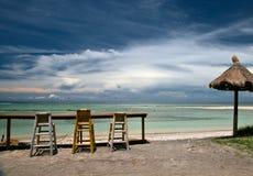 Café sur la plage photographie stock libre de droits
