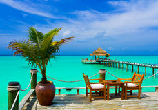 Café sur la plage Images libres de droits