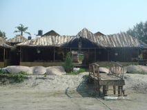 Café sur la plage de Calangute goa photographie stock