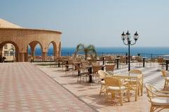 Café sur la plage tropicale photographie stock