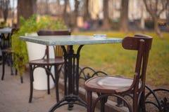Café sur la rue Photo stock