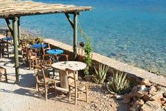 Café sur le bord de la mer Photos libres de droits