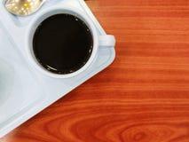 Café sur le bureau Images stock