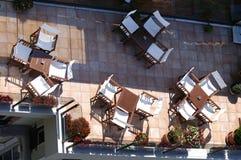 Café sur le dessus de toit Images libres de droits