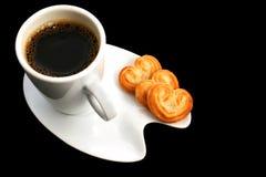 Café sur le noir images libres de droits