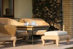 Café sur le patio Photographie stock