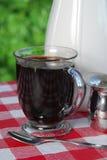 Café sur le patio photo stock
