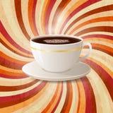 Café sur le rétro fond Image libre de droits