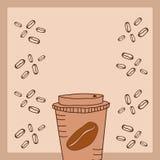 Café sur le robinet et le grain Images libres de droits