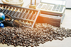 Café sur un en bois Images stock