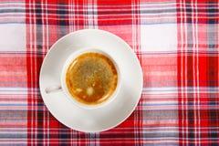 Café sur une table de déjeuner Photographie stock libre de droits