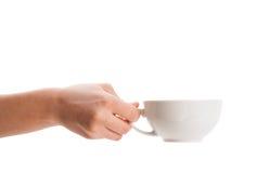 Café-taza con el espacio blanco de la copia Imágenes de archivo libres de regalías