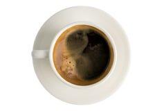 Café, taza de café en fondo del aislante Fotografía de archivo
