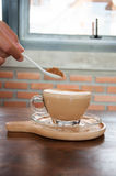 Café Taza del café con leche Imagen de archivo