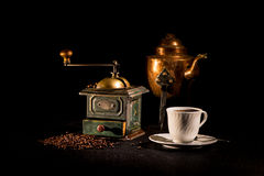 Café-tiempo Imagenes de archivo