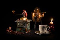 Café-tiempo de la Navidad Imagen de archivo libre de regalías