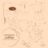 Café - tiré par la main illustration libre de droits