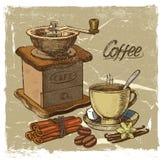 Café tiré par la main Photographie stock libre de droits
