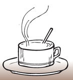 Café tiré par la main Photos libres de droits