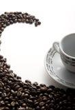 Café torcido Imagen de archivo libre de regalías