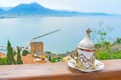Café tradicional en Alanya Fotos de archivo libres de regalías