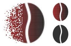 Café tramé de dissolution Bean Icon de Pixelated illustration de vecteur